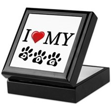 I LOVE MY DOG Gifts Keepsake Box