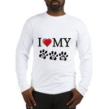 I LOVE MY DOG Gifts Long Sleeve T-Shirt