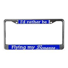 Flying My Bonanza License Plate Frame