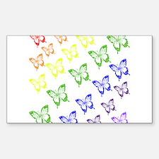 rainbow butterflies Decal