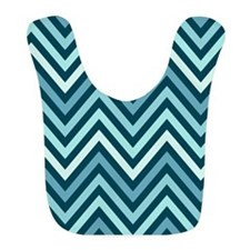 Modern Chevron Stripes Bib