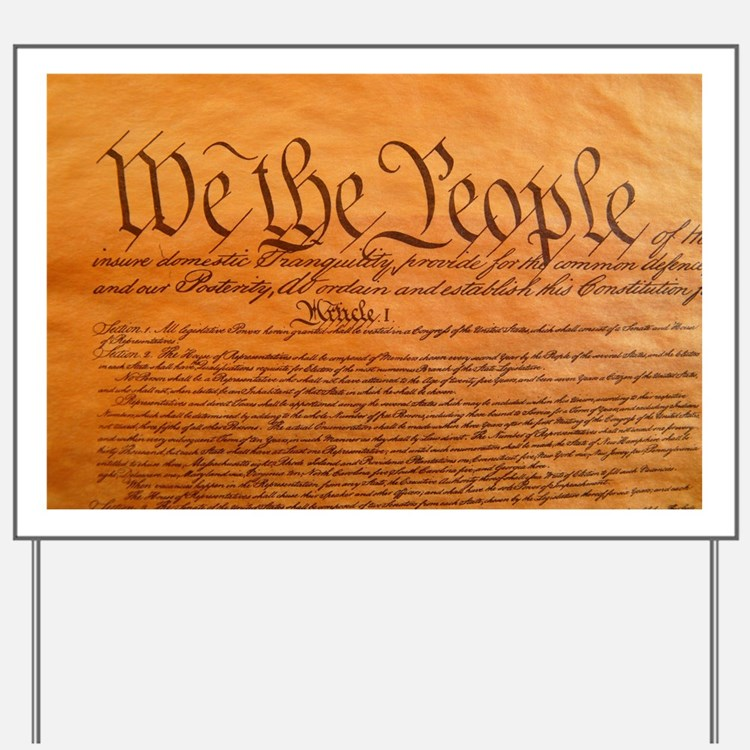 US Constitution Yard Sign