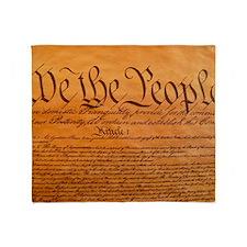 US Constitution Throw Blanket