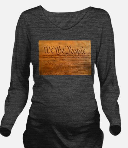 US Constitution Long Sleeve Maternity T-Shirt