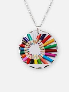 Colored Pencils Necklace
