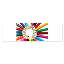 Colored Pencils Bumper Bumper Sticker