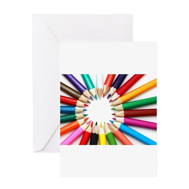 Colored Pencils Greeting Cards By CafePressGifts1