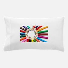 Colored Pencils Pillow Case