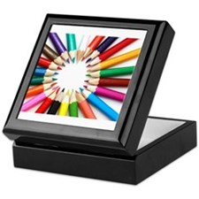 Colored Pencils Keepsake Box