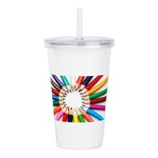 Colored Pencils Acrylic Double-wall Tumbler