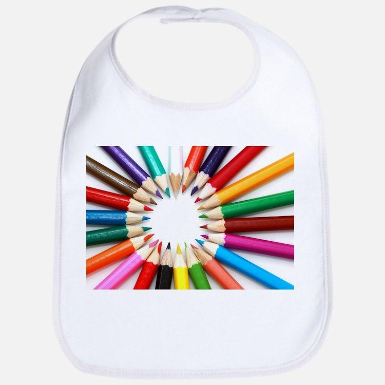 Colored Pencils Bib