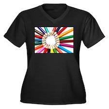 Colored Pencils Plus Size T-Shirt