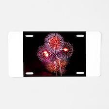 Fireworks Aluminum License Plate