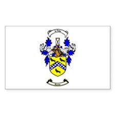 HUSTON Coat of Arms Rectangle Decal