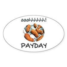 Payday Peanuts Oval Decal