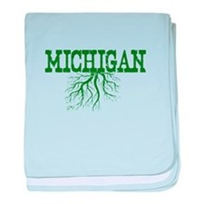 Michigan Roots baby blanket