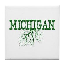 Michigan Roots Tile Coaster