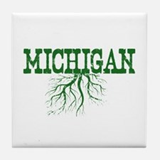 Michigan Roots Tile Coaster