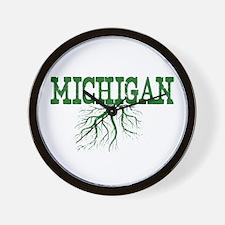 Michigan Roots Wall Clock