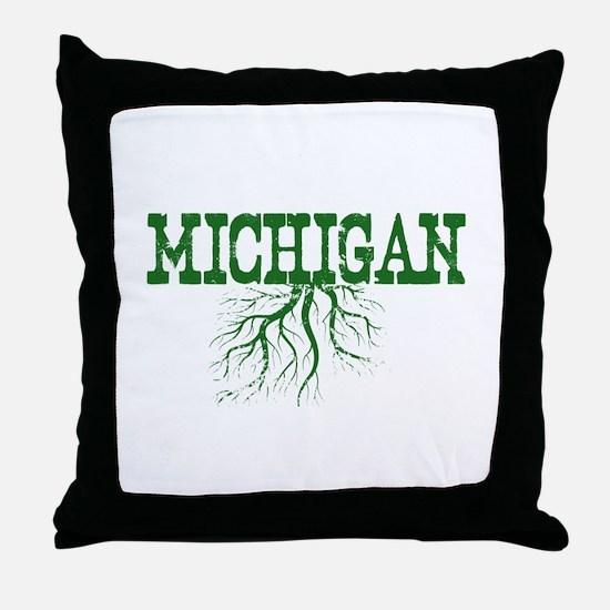Michigan Roots Throw Pillow