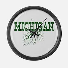 Michigan Roots Large Wall Clock