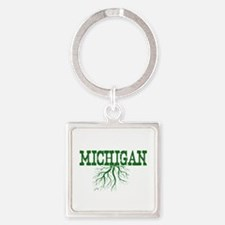 Michigan Roots Square Keychain