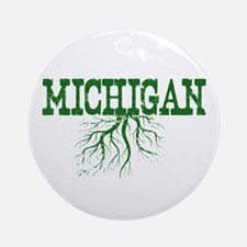 Michigan Roots Ornament (Round)