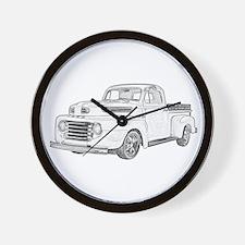1950 Ford F1 Wall Clock