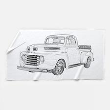1950 Ford F1 Beach Towel
