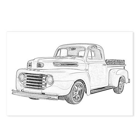 gmc truck postcards