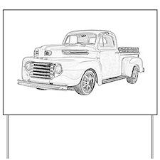 1950 Ford F1 Yard Sign