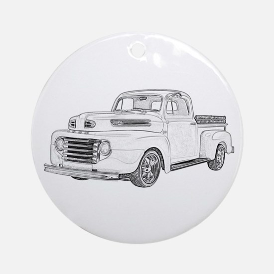 1950 Ford F1 Ornament (Round)