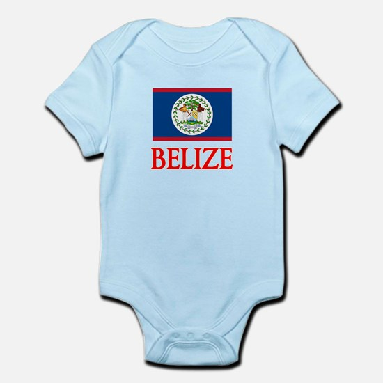 Belize Flag Design Body Suit