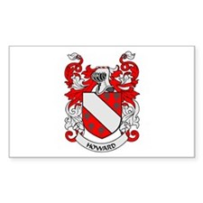 HOWARD Coat of Arms Rectangle Decal