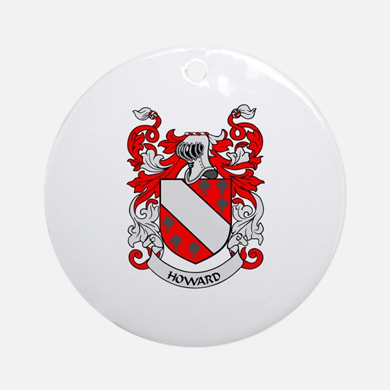 HOWARD Coat of Arms Ornament (Round)