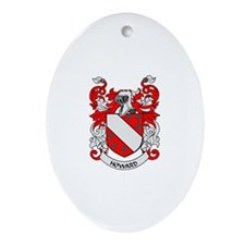 HOWARD Coat of Arms Oval Ornament