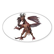 Red Dragon Oval Decal