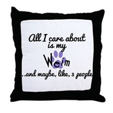Funny Care about Throw Pillow