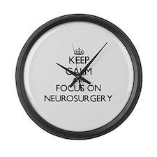 Keep Calm and focus on Neurosurge Large Wall Clock