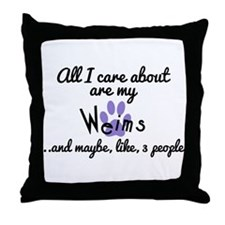 Unique Care about Throw Pillow
