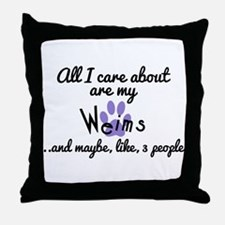 Cute Care about Throw Pillow