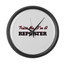 Trust me I'm a Reporter Large Wall Clock