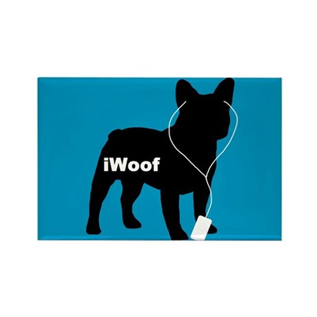 iWoof Frenchie Rectangle Magnet