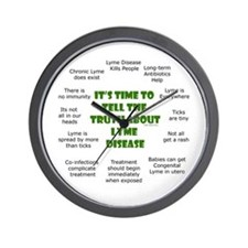 Lyme Disease Wall Clock
