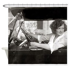Actress Behind the Wheel, 1921 Shower Curtain