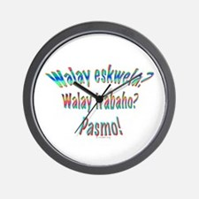 Walay Eskwela in Colour Wall Clock