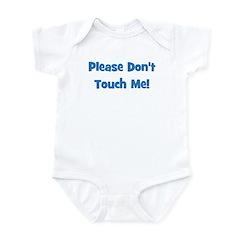 Please Don't Touch! Blue Infant Bodysuit
