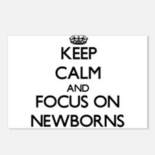 Keep Calm and focus on Ne Postcards (Package of 8)