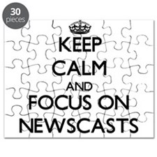 Keep Calm and focus on Newscasts Puzzle