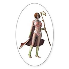 Lady Mage Oval Decal